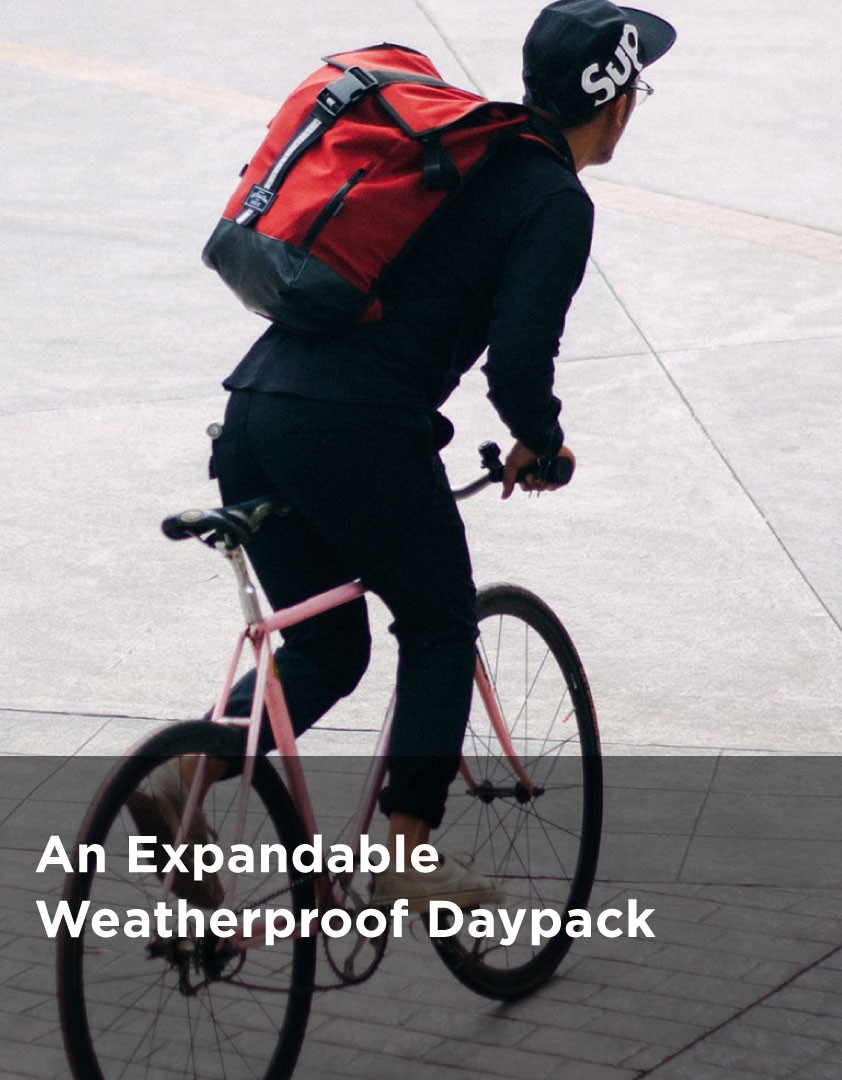 An Expandable Weatherproof Daypack